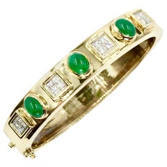 Montreaux 18 Karat Emerald and Diamond Bangle Bracelet