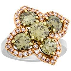 Chameleon Diamond Ring, 2.67 Carat