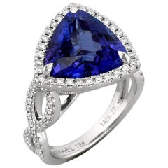 Yael Designs Tanzanite Diamond and White Gold Ring