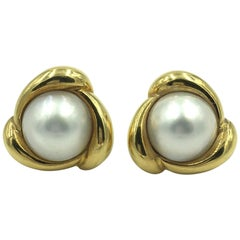 Turi Mabe Pearl and Gold Earrings