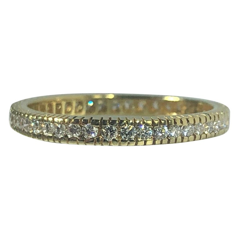 Hidalgo 18 Karat Yellow Gold and Diamond Eternity Band
