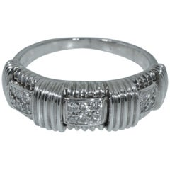 18 Karat White Gold Roberto Coin Appassionata Diamond Ring