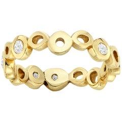 White Diamond 0.30 Carat 14 Karat Yellow Gold Ring Band