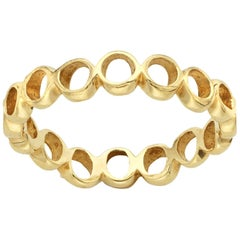 14 Karat Yellow Gold Organic Shaped Ring Band