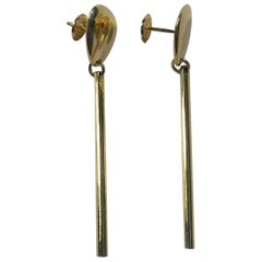 Georg Jensen 18 Karat Gold Earrings No 1445