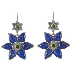 Emma Chapman Lapis Lazuli Statement Earrings