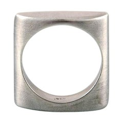Swedish Modernist Silver Ring, 1960s