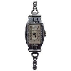 1931 Ladies Art Deco Enamel Bulova Watch