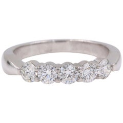 Hearts on Fire Multiplicity Love Diamond Wedding Band Ring 18k White Gold 1.20ct
