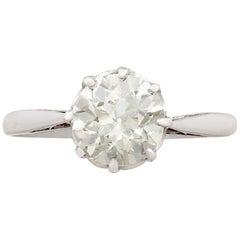 Antique 1.49Ct Diamond and Platinum Solitaire Ring Circa 1920