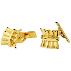 Uxmal Single Ended 9 Karat Yellow Gold Cufflinks