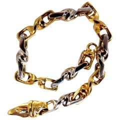 Braccio Unisex Rotating Two-Toned Bracelet 18 Karat