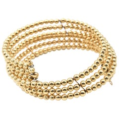 14 Karat Yellow Gold Ball Tension Bracelet