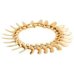 Georg Jensen 18 Karat Gold Link Bracelet, circa 1998