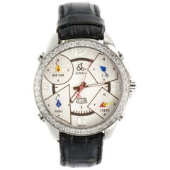 2010 Jacob & Co. 5 Time Zone P-O 28 50 mm Silver Dial