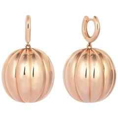 Rose Gold Pumpkin Earrings