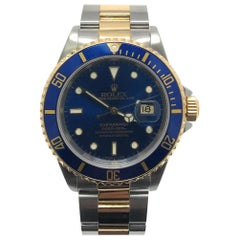 Rolex Submariner 16613 With 7.7 in. Band & Blue Dial