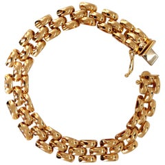 High Shine Panther Deco Bracelet 14 Karat