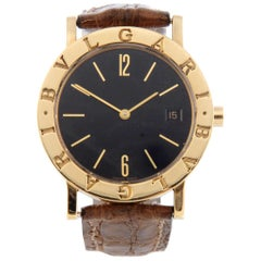 Bulgari a Mid-Size Bulgari Wrist Watch 18 Carat Yellow Gold Case