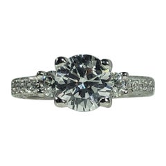 Tacori Platinum and Diamond 3-Stone Design Engagement Ring