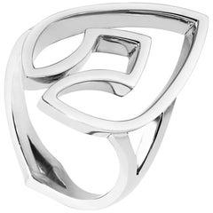 Kata Platinum Statement Sculptural Kali Spear Dress Ring