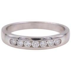 Hearts on Fire Seven Stone Diamond Wedding Band Ring 18 Karat Gold 0.35 Carat