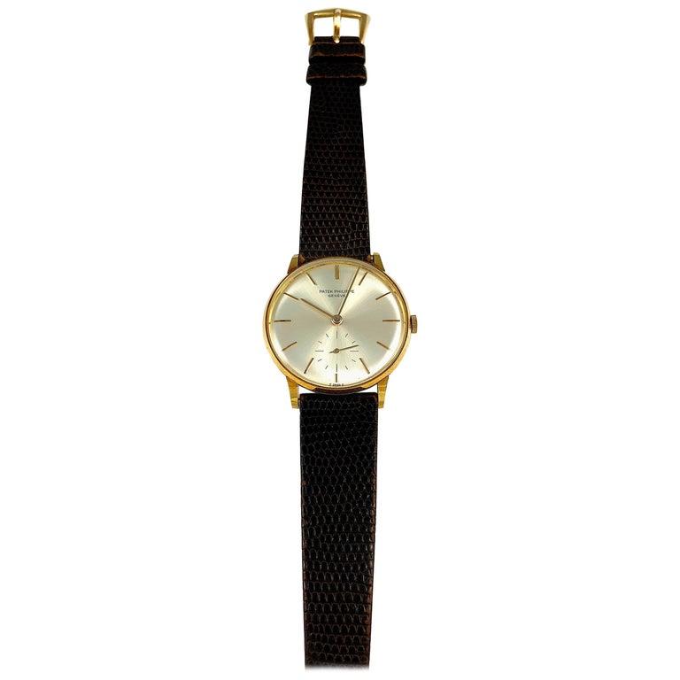 Patek Philippe Yellow Gold Calatrava Reference 3420 Manual Wind Wristwatch