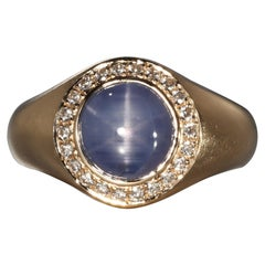 Robert Vogelsang 5.04 Carat Star Sapphire Diamond Rose Gold Cocktail Ring