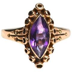 Antique Amethyst 14 Karat Gold Ring