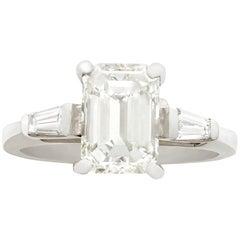 2.36 carat Diamond and Platinum Solitaire Ring