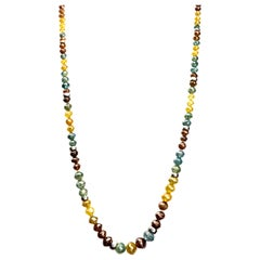 48 Carat Total Weight Rough Natural and Color Enhanced Beaded Diamond Necklace