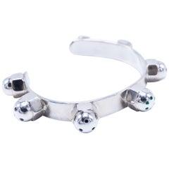Chakra Stud Arm Cuff Bracelet White Diamond Emerald Rubies Blue Sapphire