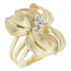 Cammilli Yellow Gold Flower Ring