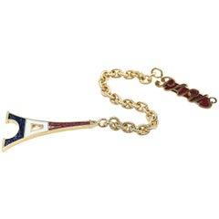 Paris Eiffel Tower Long pendant Earrings with Enamel