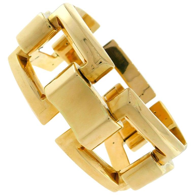 1940s Tiffany & Co. Yellow Gold Retro Bracelet