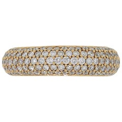 Diamond Pave Eternity Wide Band