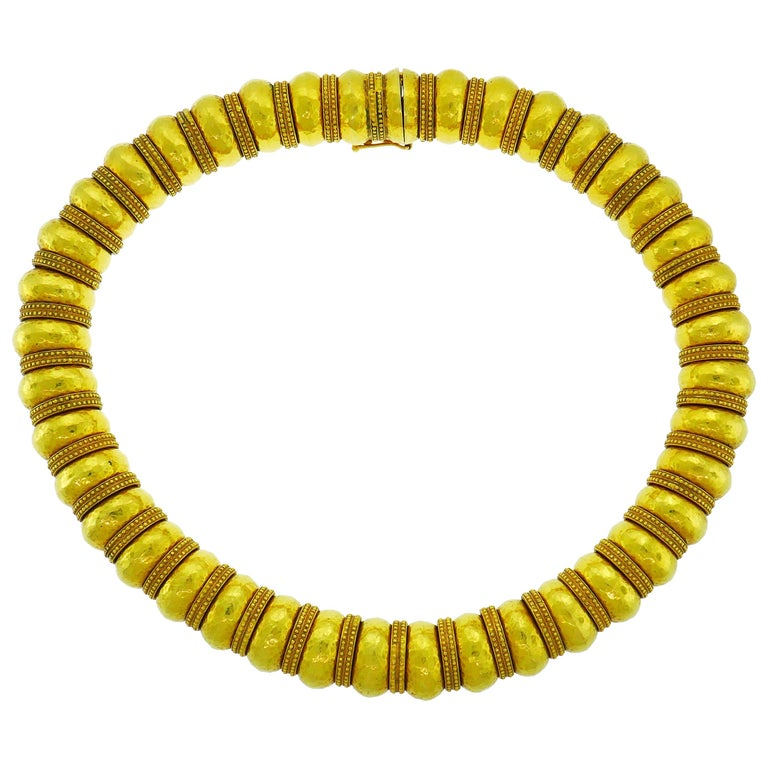Lalaounis 22 Karat Yellow Gold Necklace For Sale