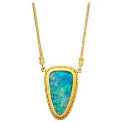 Carolyn Tyler Blue Australian Opal Necklace