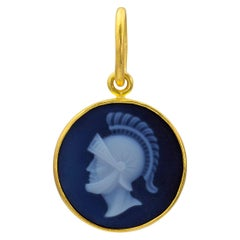 Loren Nicole 22k Gold Roman Soldier Cameo Charm Pendant One of a Kind