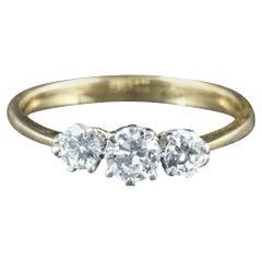 Antique Edwardian Diamond Trilogy Ring 18 Carat Platinum, circa 1915