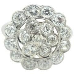 Diamond Cluster Ring 3.00 Carat