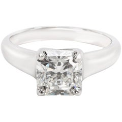 Tiffany & Co. Lucida Cut Diamond Engagement Ring in Platinum G VS1 2.03 Carat