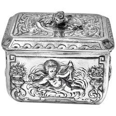 Antique Silver Box, Germany, circa 1890