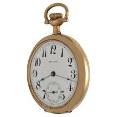 Waltham circa 1905 American Riverside Maximus Gold Pocket Watch