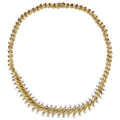 Van Cleef & Arpels Diamond Navette-Shaped Links Necklace