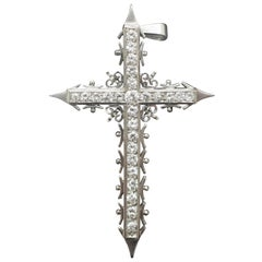 Diamond Platinum Cross Pendant