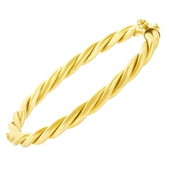 Gold Cable Twist Bangle