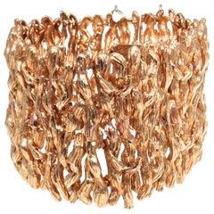 Thick Gold Bark Bracelet