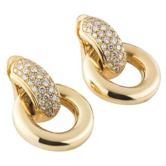 Chaumet Diamond Hoop Earrings 2.10 Carat