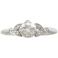Antique Diamond and White Gold Solitaire Ring, circa 1930